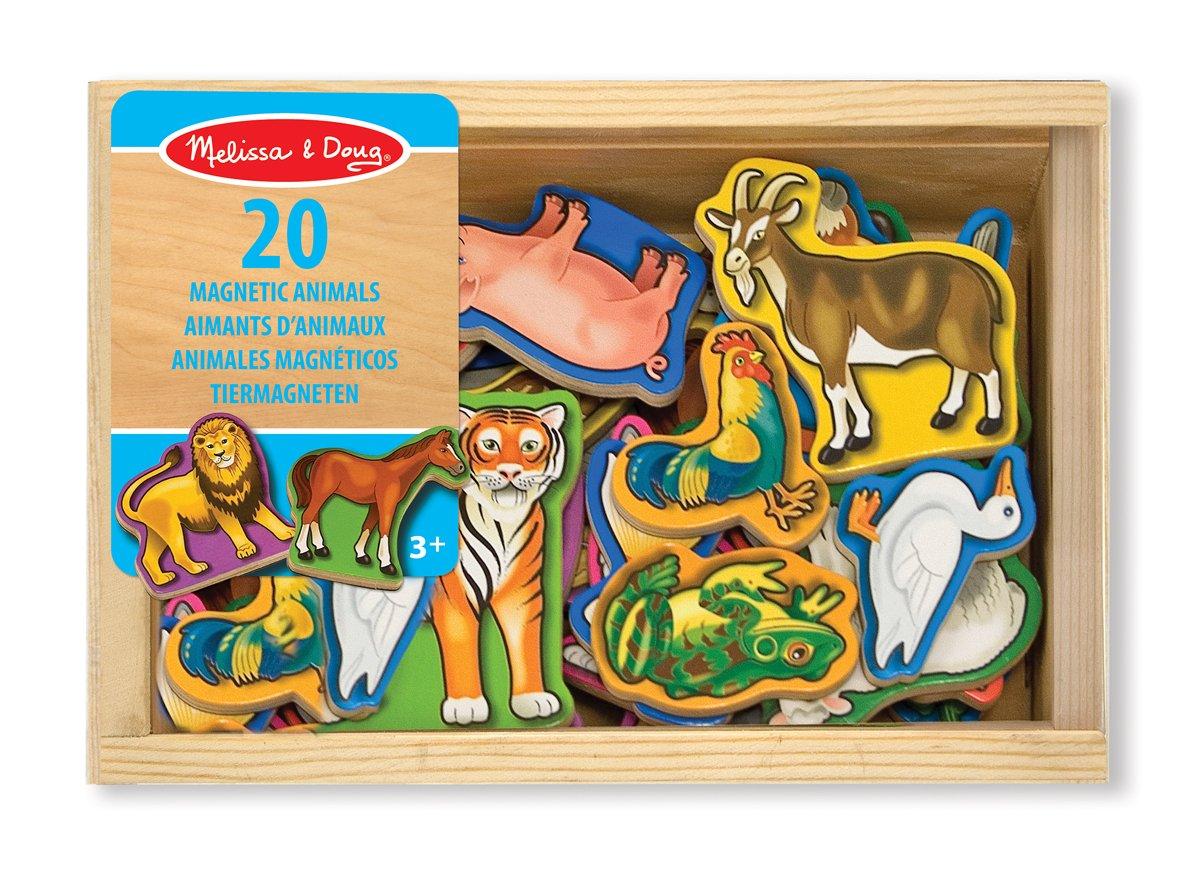 Set 9 timbri timbrini cuccioli animali cane scatola in legno Melissa e Doug