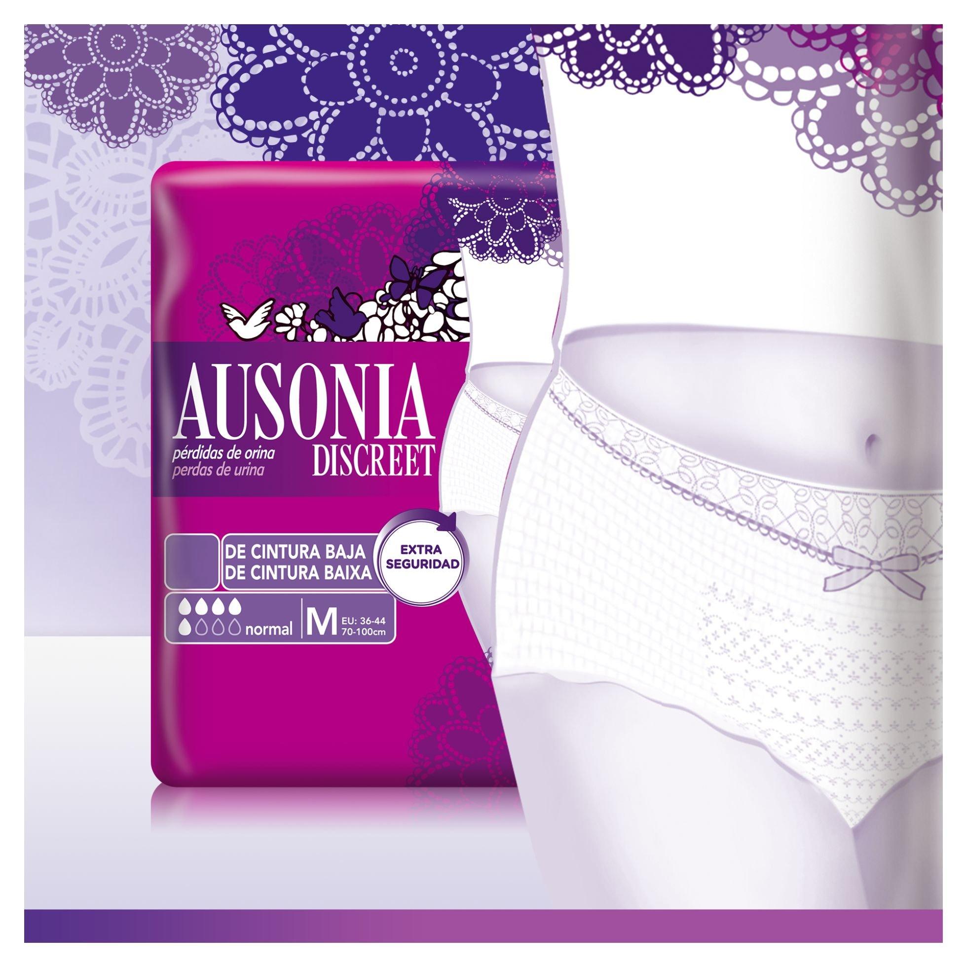 Ausonia Discreet Boutique Mutandine per perdite di urina M nere 18 pezzi 1040 g